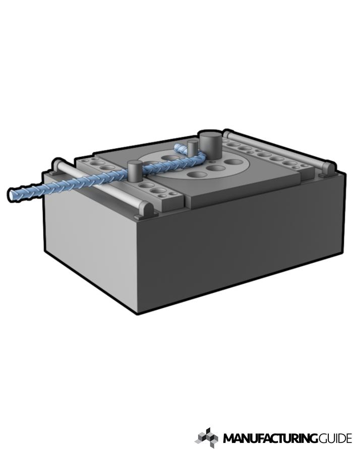 Illustration av Halvautomatisk bockning av armeringsjärn