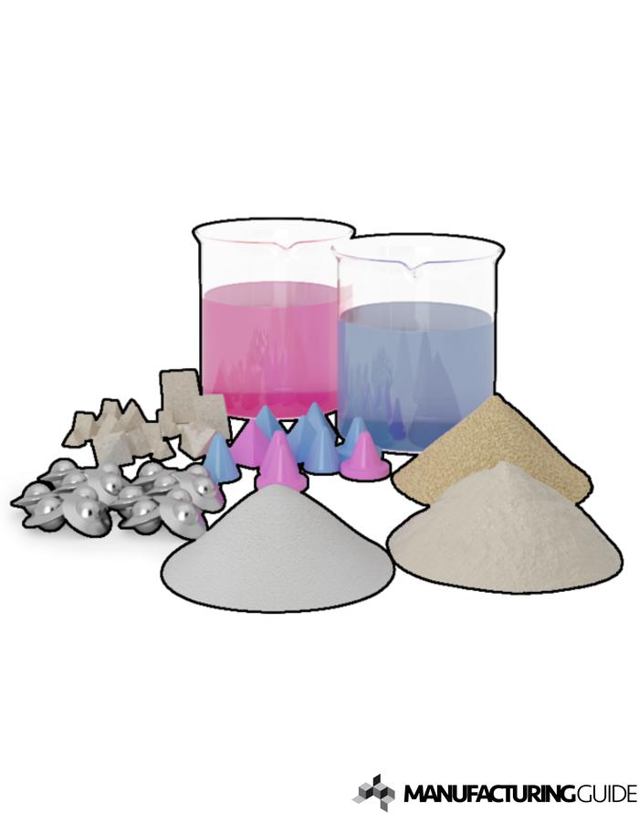 Illustration av Abrasiv media och compounds