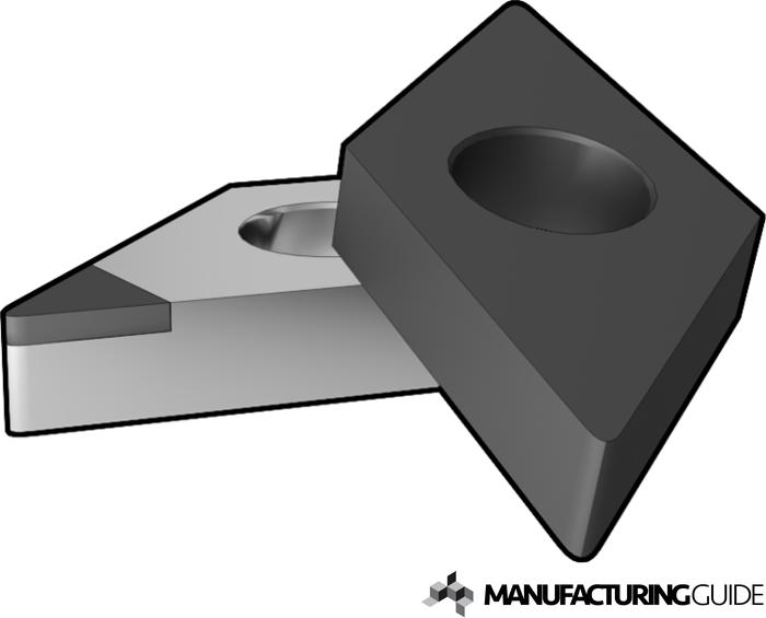 Illustration of Cutting tools of Polycrystalline cubic boron nitride
