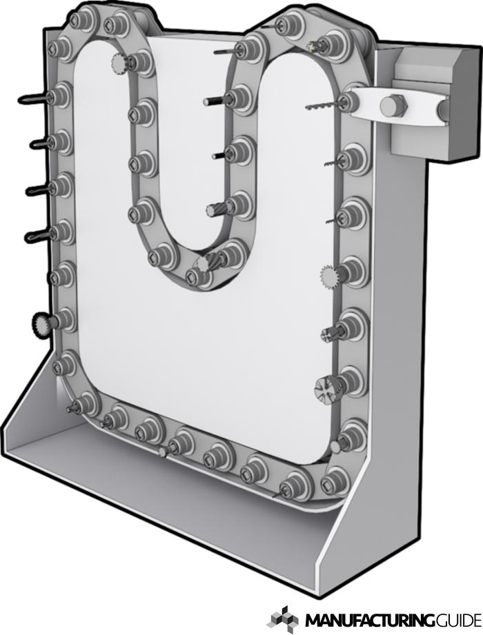 Illustration av Kedjeverktygsväxlare