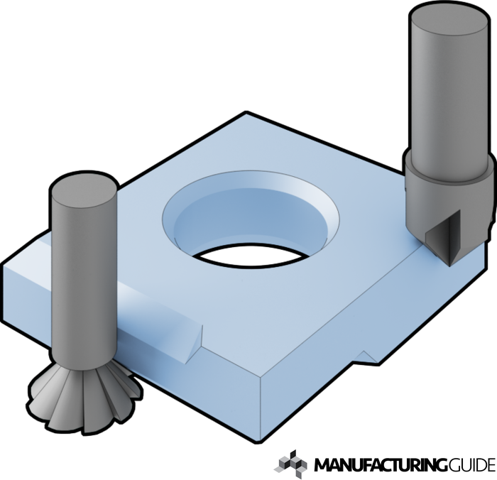 Illustration of Chamfer milling