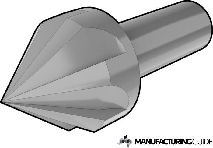 Illustration of Countersink drill