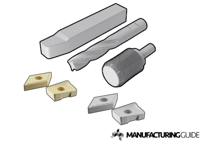 Illustration av Material i skärande verktyg