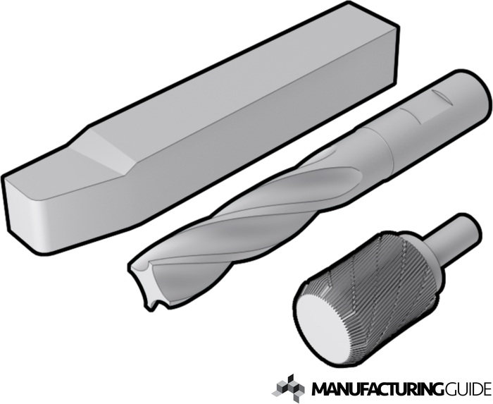Illustration of High Speed Steel (HSS) cutting tool