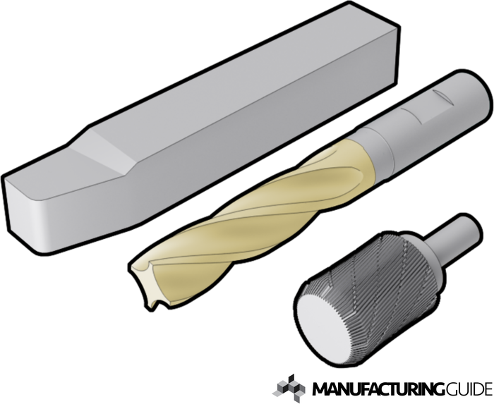 Illustration of Cutting tools of High Speed Steel (HSS)