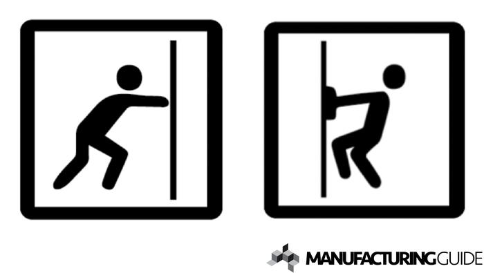 Illustration av Produktutveckling - Pull & Push