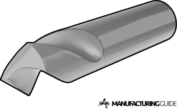 Illustration of spot drill