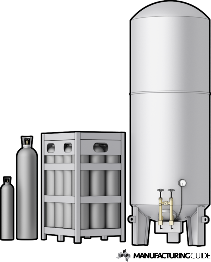 Illustration of Gases for thermal cutting