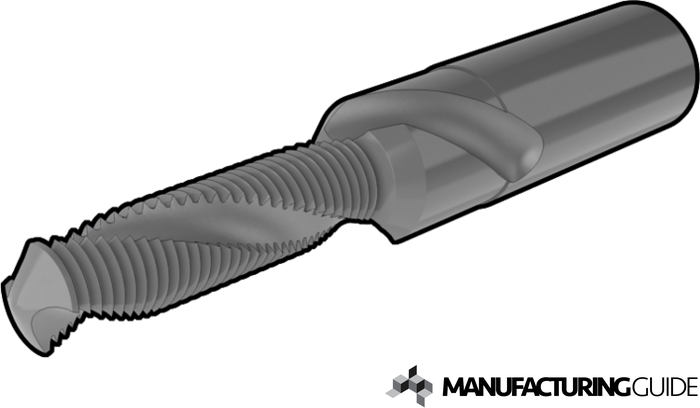 Illustration of Drill thread milling cutter